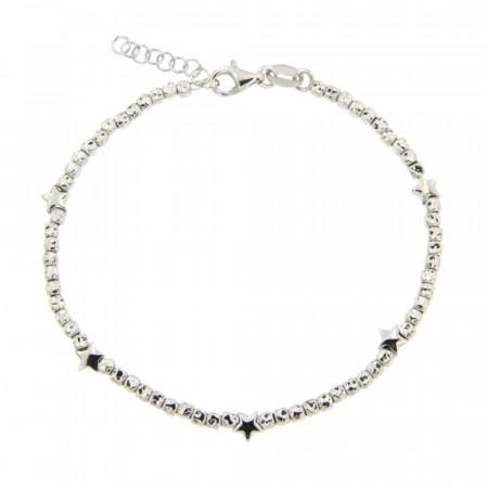 Bracelet Argent FINS ENFILAGE Cubetto - Etoile 18+2cm