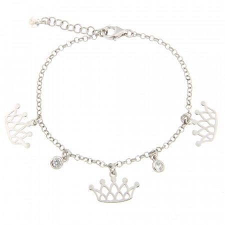 Bracelet Argent 3 COURONNES - OZ - 16+2,5cm