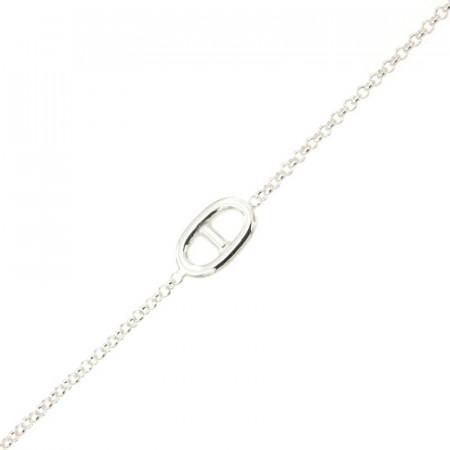 Bracelet Argent LA MER Marine / Mini jaseron 18+2,5cm