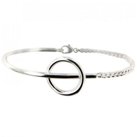 Bracelet Argent PHI - Jonc Semi articulé GL80