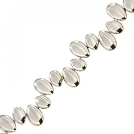 Bracelet Argent GALETS ondulées 18,5cm