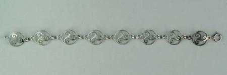Bracelet Argent TRISKELL CORDON/1