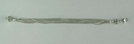 Bracelet Argent QDR25/7 RANGS 2 TRISKELL VOL