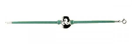 Bracelet Argent PLAQUE RONDE TRISKELL DEC COTON CI