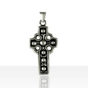 Croix Argent CELTIQUE BOULES