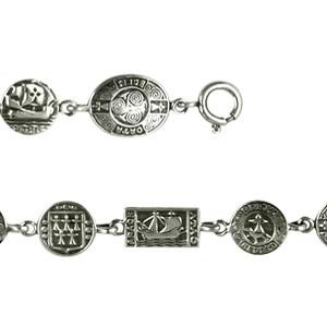 Bracelet Argent OVALE PLAQUETTES