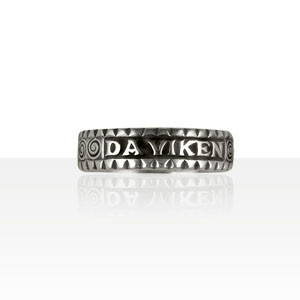 "Alliance Argent ""Da Viken"" diamantée"