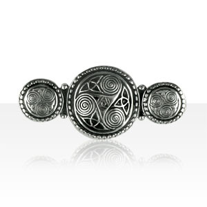 Broche Argent TRISKELL PERLE