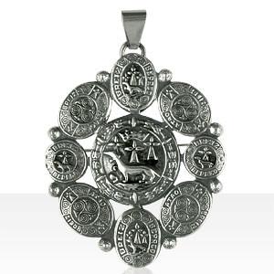 Médaille Argent OVALE HERMINE ENTOURAGE DISQUES RO