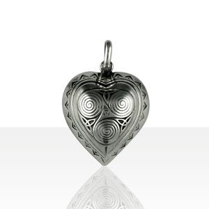 Pendentif Argent COEUR BOMBE TRISKELL PM