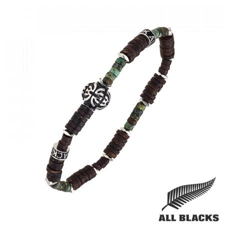 Bracelet TIBETAIN COCO & TURQUOISE AFRICAINE ALL BLACKS