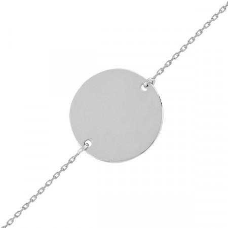 Bracelet JETON  Or blanc 750°°° - 18/16/14cm