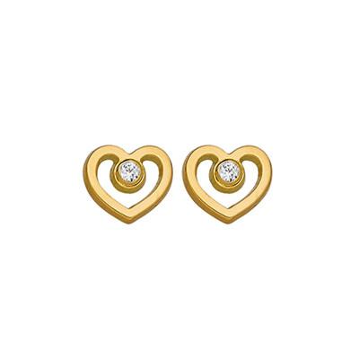 Boucles d'oreilles COEUR Oz  Or 750°°° - VIS