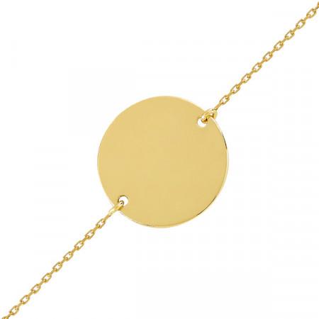 Bracelet jeton Or jaune 18 carats