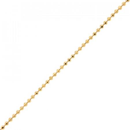 Collier Plaqué Or BOULE 110 diamantée - 45CM