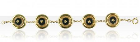 Bracelet Plaqué Or CREOLE ONYX 5/CH GM