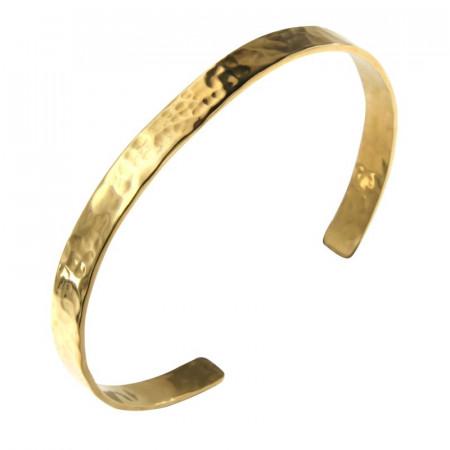 Bracelet Plaqué Or Jonc PLAK   6mm - Martelé