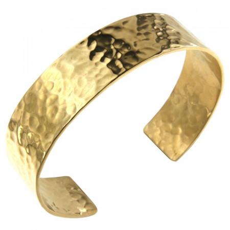 Bracelet Plaqué Or Jonc PLAK  16mm - Martelé