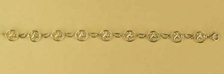 Bracelet Plaqué Or TRISKELL ENTOURAGE ROND/1