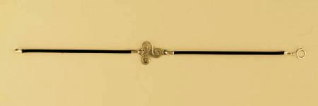 Bracelet Argent CUIR TRISKELL PLAT 3