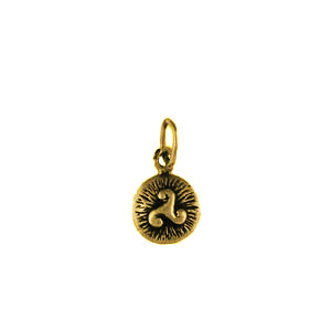 Médaille Plaqué Or FOND STRIE TRISKELL PM