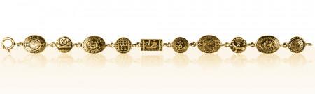 Bracelet Plaqué Or OVALE PLAQUETTES