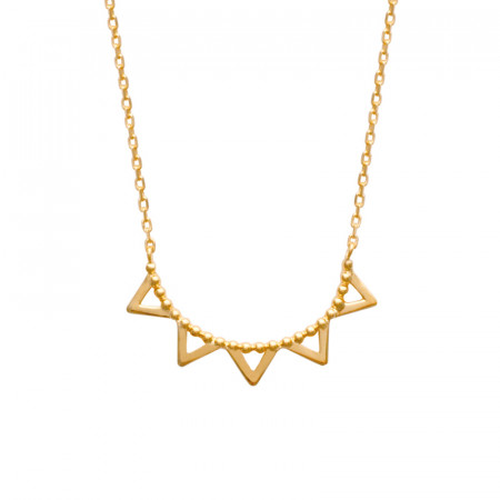 Collier Plaqué Or  SOLEIL Dentelle Triangle ASTRES