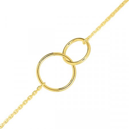 Bracelet Double cercle Plaqué Or