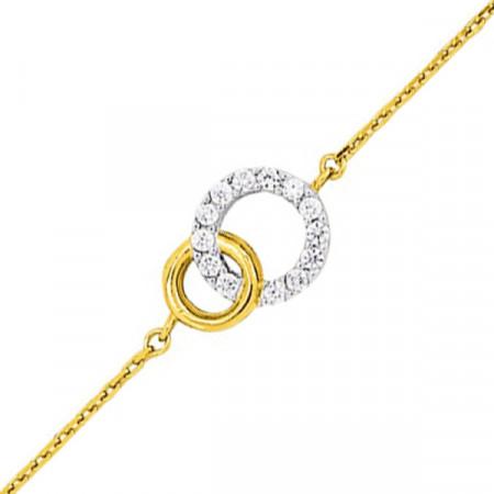 Bracelet Double cercle OZ Plaqué Or