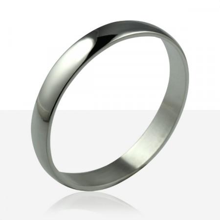 Bracelet  1/2 JONC PLAT ARGENT MASSIF 11MM / 3MM