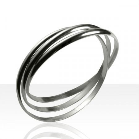 Bracelet 3 Anneaux Argent MASSIF 5MM