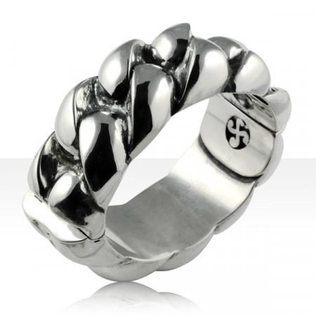 Bracelet Argent RIGIDE CORDE GM