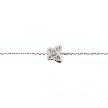 Bracelet Argent KOTA Papillons -  OZ