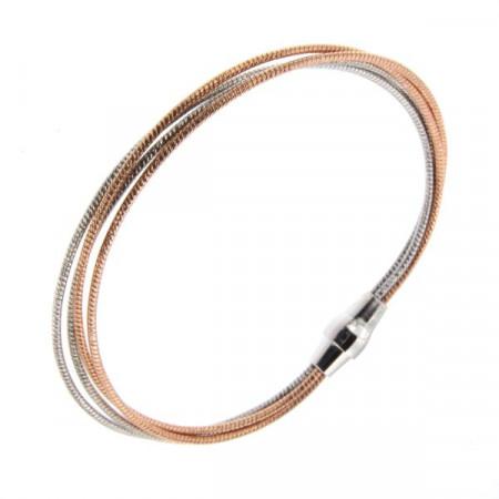 Bracelet Argent MAGNETIK 4 fils Omega