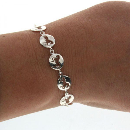 """Bracelet Argent """"JEREZ"""" Mini Cheval 12 Motifs"""
