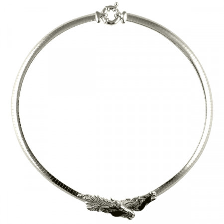 Collier Argent OMEGA PLAT 6 - 2 TETES