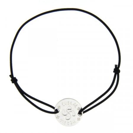 Bracelet Argent EDER Médaille LASTIC Croix Basque