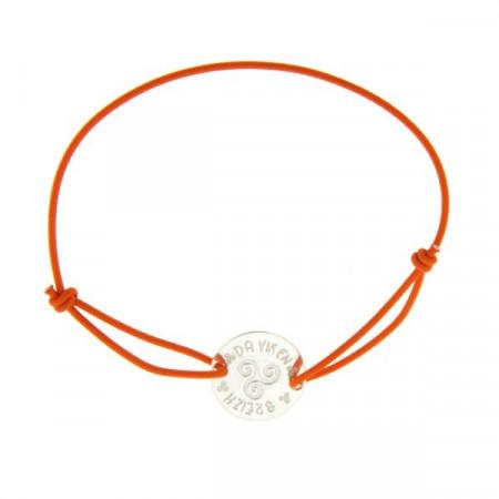 Bracelet Argent EDER Médaille LASTIC Triskell
