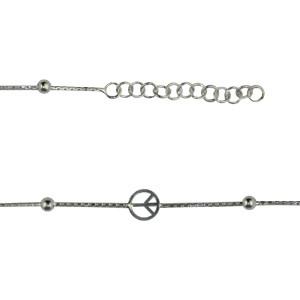 """Bracelet Argent  """"PEACE & LOVE"""""""