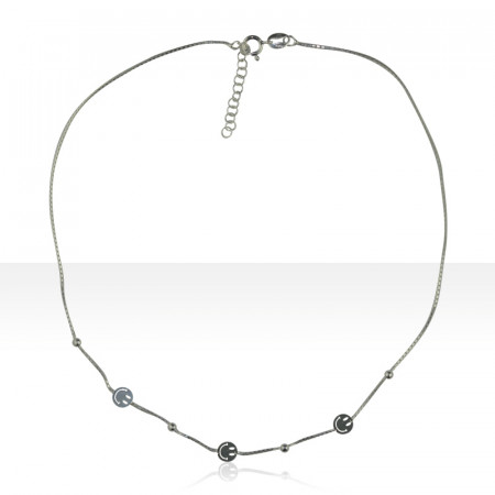 """Collier Argent """"SMILEY"""""""