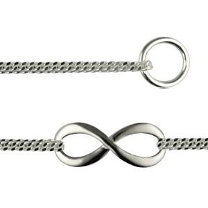 bracelet symbole infini double gourmette argent massif fabrication francaise bijoux design. Black Bedroom Furniture Sets. Home Design Ideas
