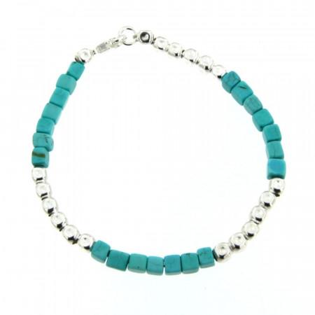 Bracelet Argent & Turquoise MASSAÏ