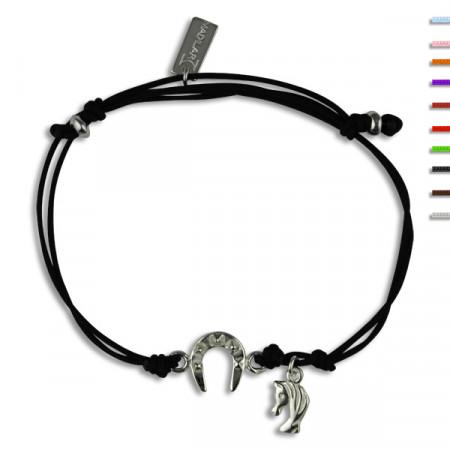 Bracelet Argent NILA EQUI fer à cheval mini tête