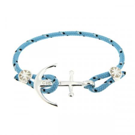 Bracelet Argent Ancre CAP COZ - ciel