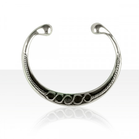 Bracelet Argent RIGIDE TORQUE