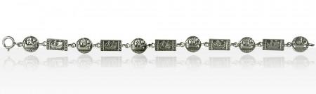 Bracelet Argent PAYS CELTES RONDS/BATEAU