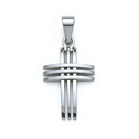 Croix Acier ajourée 20x28MM