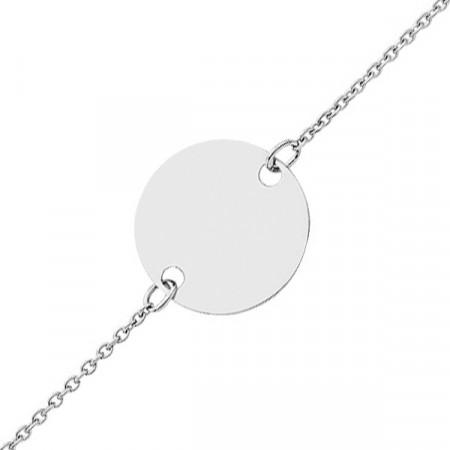 Bracelet JETON Or blanc 750°°° - 14cm