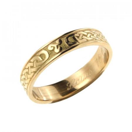 Alliance celtique en Or 18 carats , mariage Bretagne