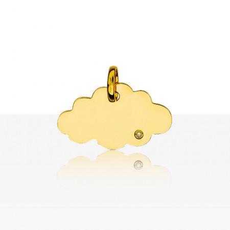 Médaille NUAGE DIAMANT Or 750°°°
